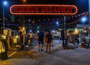 Huamum Broadway, Huamum Night Market in Bangkok Thailand