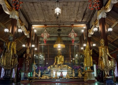 Wat Buppharam Temple in Trat, Travel in Eastern Thailand