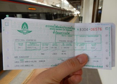 Thai Train Ticket, Malaysia to Thailand by Train From Kuala Lumpur