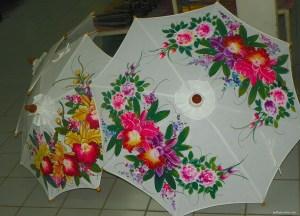 Decorative Umbrellas, Shopping for Thailand Souvenirs / Thai Gifts in Bangkok