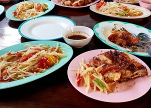Green Papaya Salad, Best Asian Street Food Eating Cheap in Asia