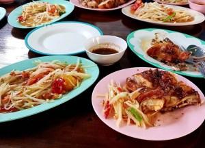 Green Papaya Salad, Best Asian Street Food Eating Cheap in Asia