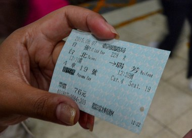 Express Train Ticket from Taipei Main Station to Jiufen by Train