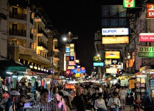Thanon Khaosan Road at Night Things to do in Bangkok Thailand