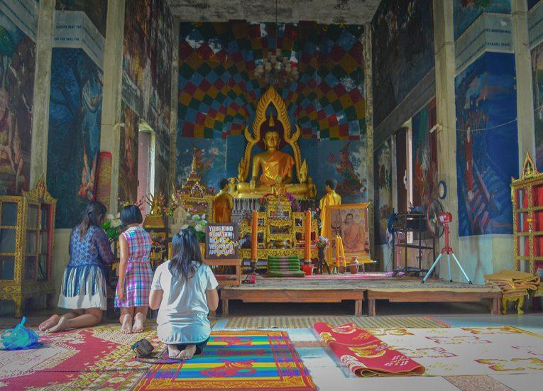 Wat Khao Angkhan for Buddhist Lent Day Wan Khao Phansa in Thailand