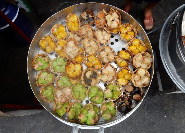 Khanom Jib Shumai Dumplings Bangkok Street Food in Thailand