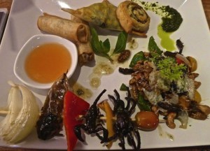 BUGS Cafe taster platter, Unusual Asian Food, Weird Foods in Asia