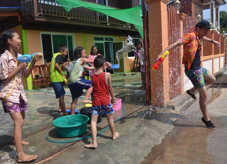 Water Fights in Rural Thailand Songkran Festival in Thailand (2)
