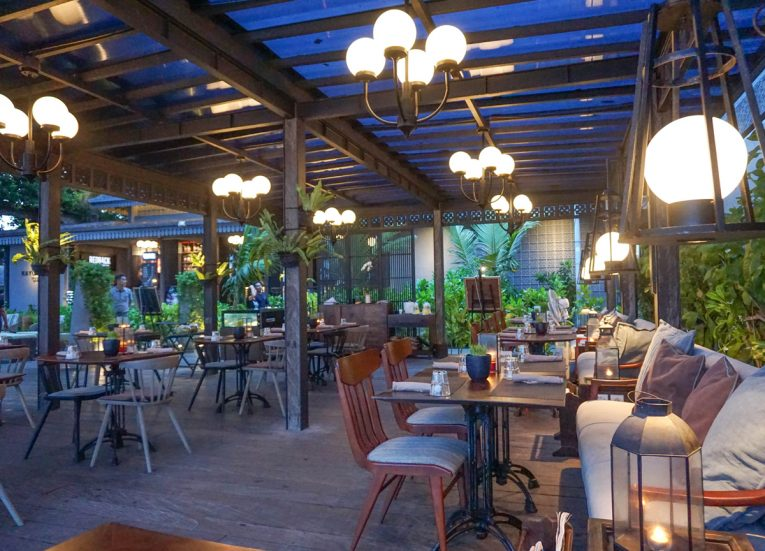 Early Evening at the Kayumanis Seaside Sanur Beach Restaurant