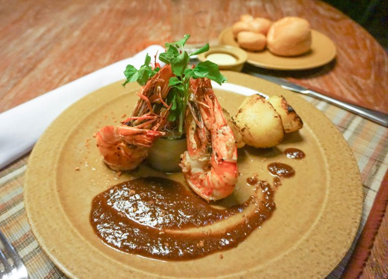 Spicy King Prawn Room Service Luxury Pool Villas at Kayumanis Sanur Resort in Bali