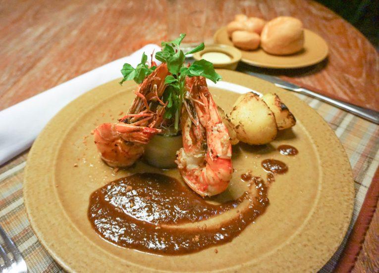 Spicy King Prawn Room Service Luxury Pool Villas at Kayumanis Sanur Resort in Bali