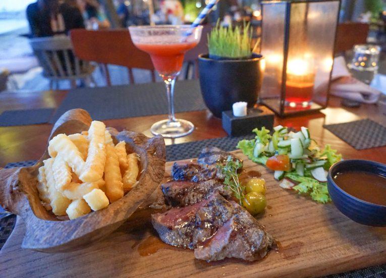 Tasty Balinese Steak at Kayumanis Seaside Sanur Beach Restaurant