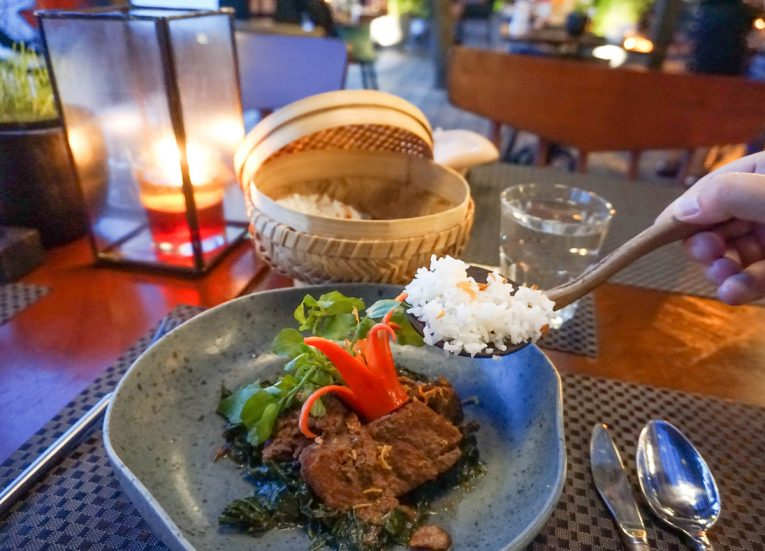 Traditional Beef Rendang Kayumanis Seaside Sanur Beach Restaurant