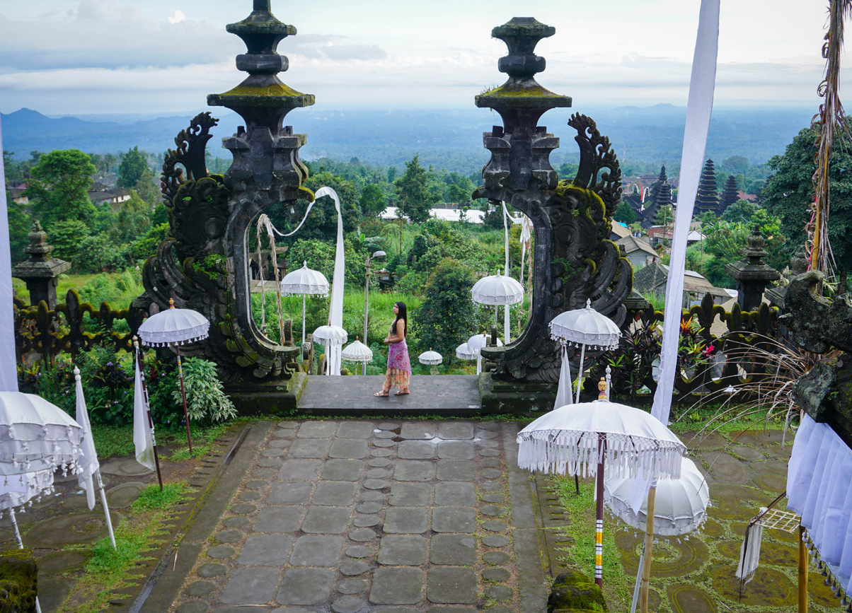 Besakih Temple by Mount Angun in East Bali Indonesia