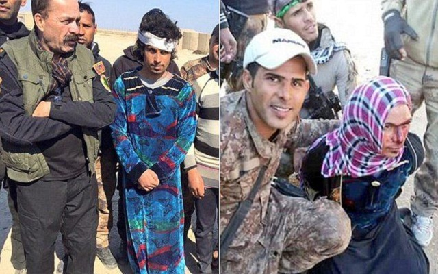 LLL - Live and Let Live - ISIS militants captured near Iraq's city of Mosul dressed as women