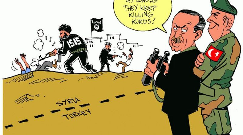 LLL-Live Let Live-Kurds say that Turkey is aiding ISIS with raids in Syria and Iraq