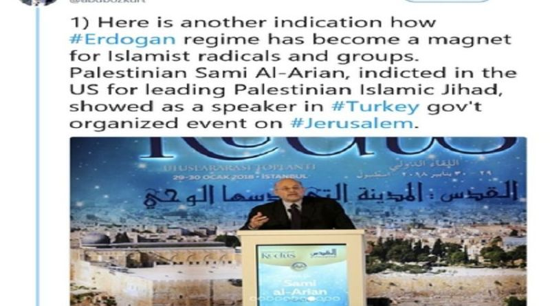 LLL-Live Let Live-Palestinian Islamic Jihad board member Al-Arian calls U.S. 'our enemy' at Turkish conference