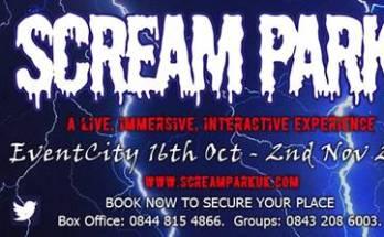 image of Halloween Scream Park UK flyer