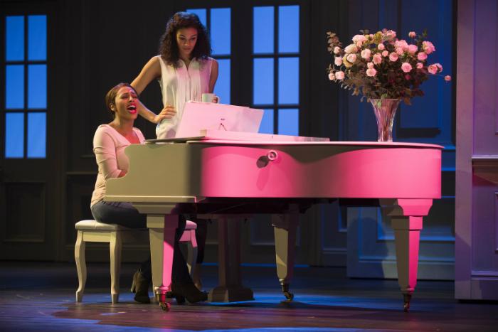image of Alexandra Burke as Rachel Marron and Melissa James as Nicki Marron in THE BODYGUARD