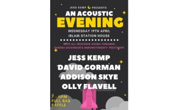poster for Jess Kemp's charity showcase at Irlam Station House
