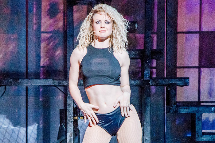 Joanne Clifton stars in Flashdance The Musical at the Palace Theatre Manchester