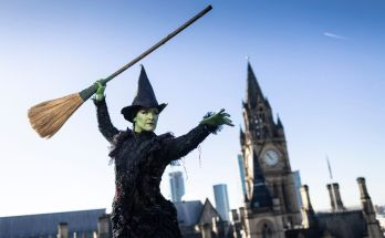 Elphaba casts her spell over Manchester ahead of the return of WICKED to the Palace Theatre - photo Phil Tragen