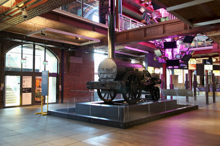 Stephenson's Rocket at the Science and Industry Museum Manchester