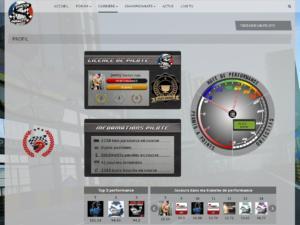 Chaque pilote accède à son profil depuis notre site …