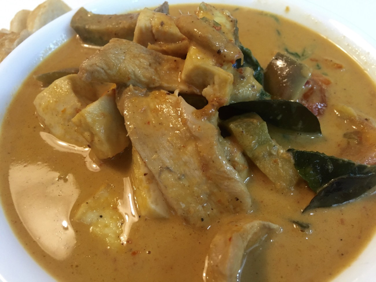 Thai Red Curry with Chicken and Tau Kwa (Kaeng Ped Gai)