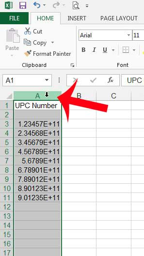 Excel template for upc check digits
