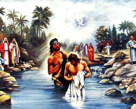 Image result for Jesus baptism pictures