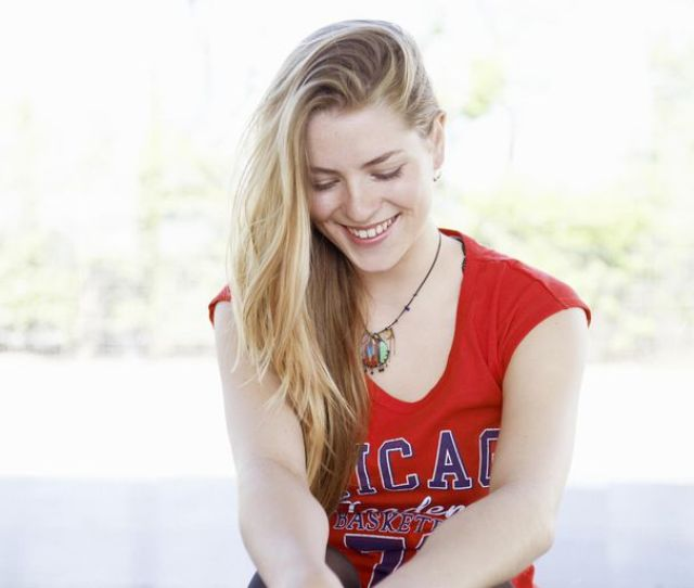 Young Trendy Woman Laughing