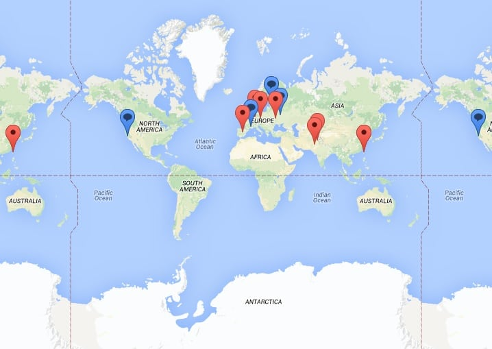 訪問者の地図