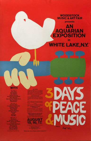 original woodstock poster starring in