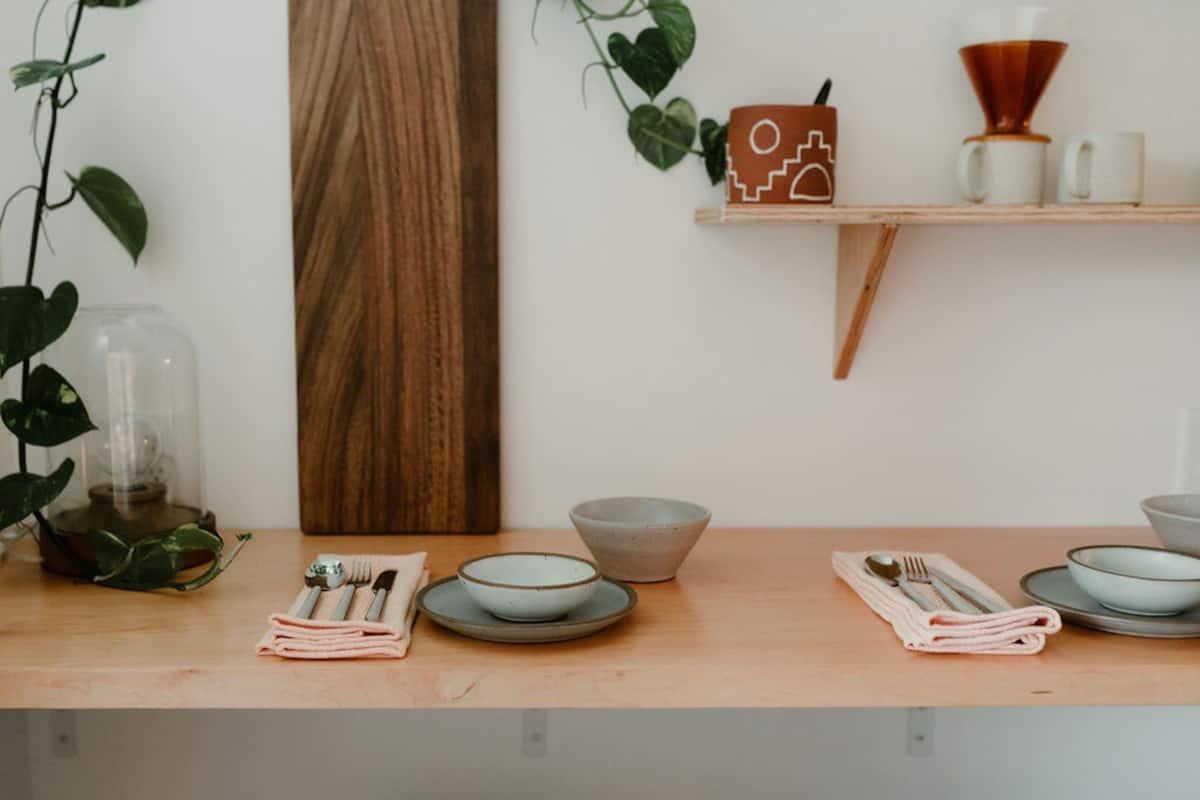 artisan dining set on countertop
