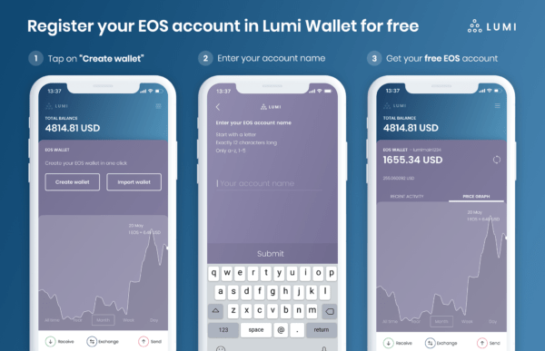 Tear down This Paywall: Lumi Wallet Free EOS Account Giveaway