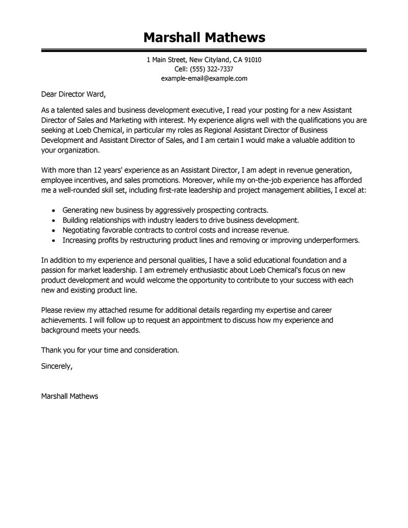 Cover Letter Sales Executive Gallery - Cover Letter Ideas
