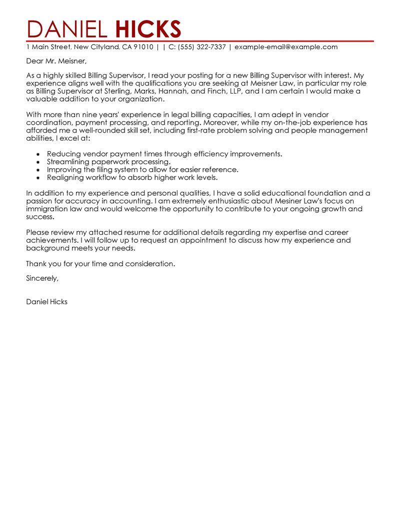 legal billing clerk cover letter examples legal cover letter samples