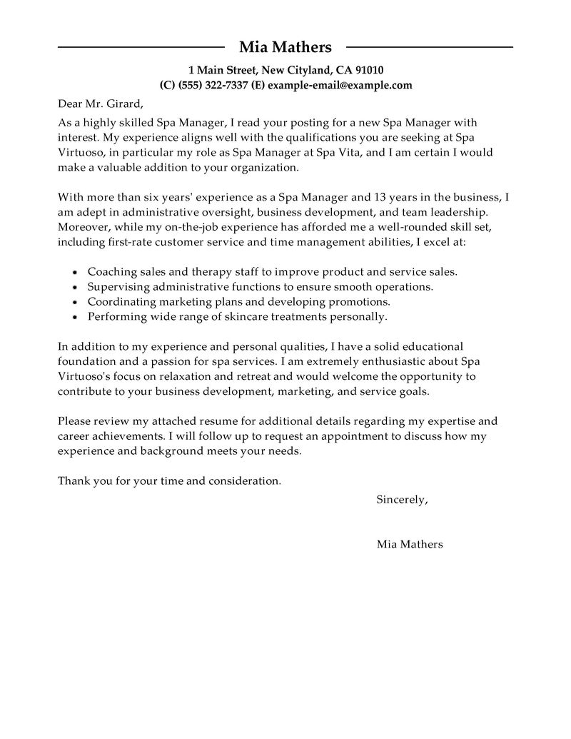 Formal Resume Cover Letter Example Best Tips For Writing A