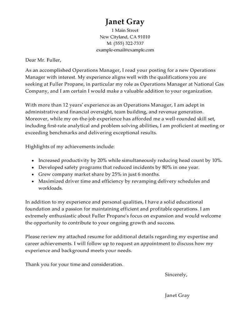 cover letter cover letter