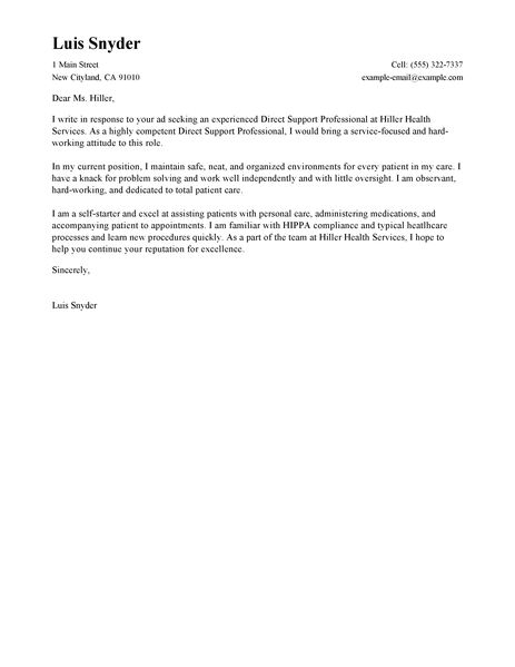 cover letter examples healthcare cover letter examples livecareer