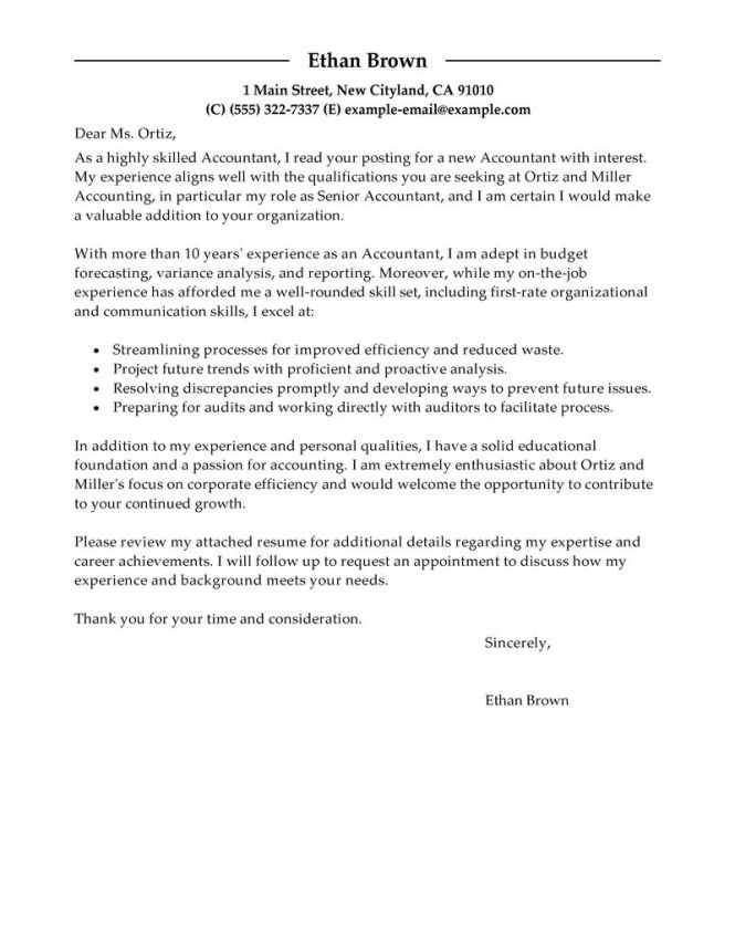 Accounting Cover Letter For Internship Sle Resume Job Accountant Tonya Snelling