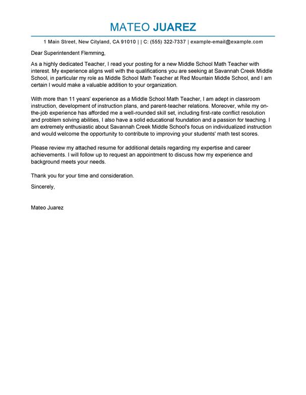 Teaching Cover Letter Sample   Cover Letter Format