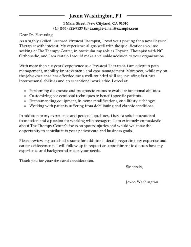 physician cover letter example