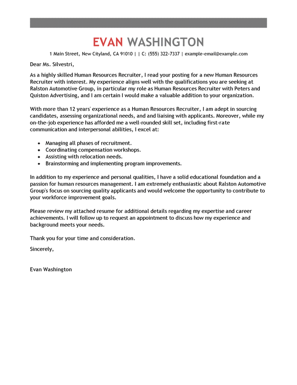 letter to headhunter