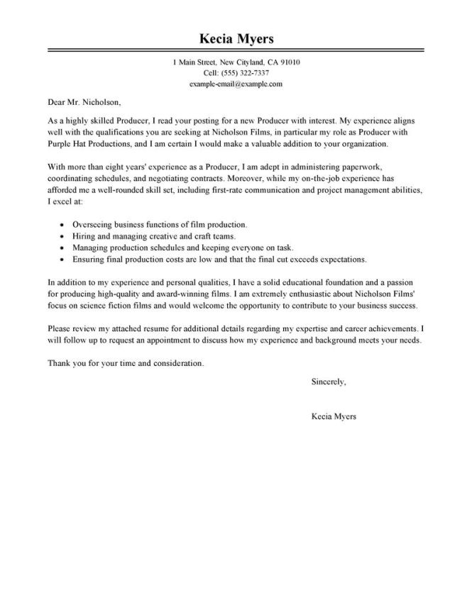 Accounting And Finance Cover Letter Exle