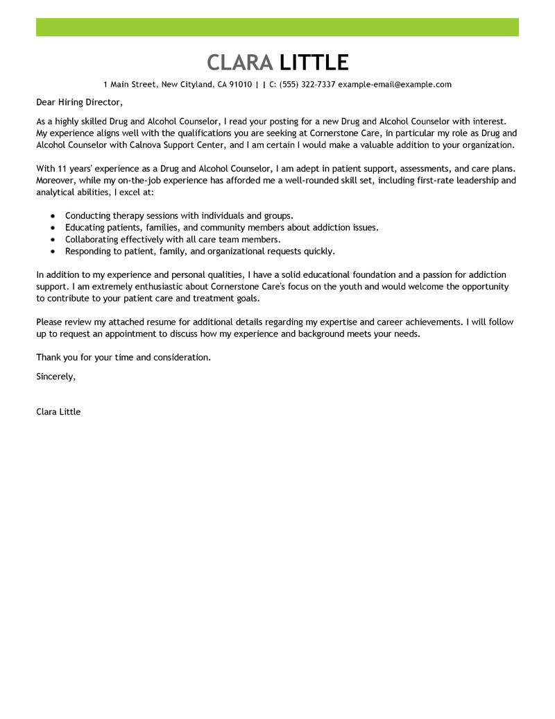 sample cover letter for admissions counselor - Bismi ...