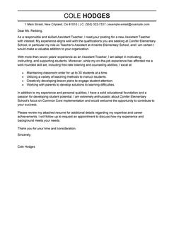 Teacher Resume Cover Letter 12 For Teachers