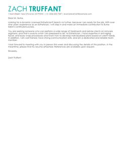 esthetician cover letter docoments ojazlink esthetics cover letter - Esthetics Cover Letter