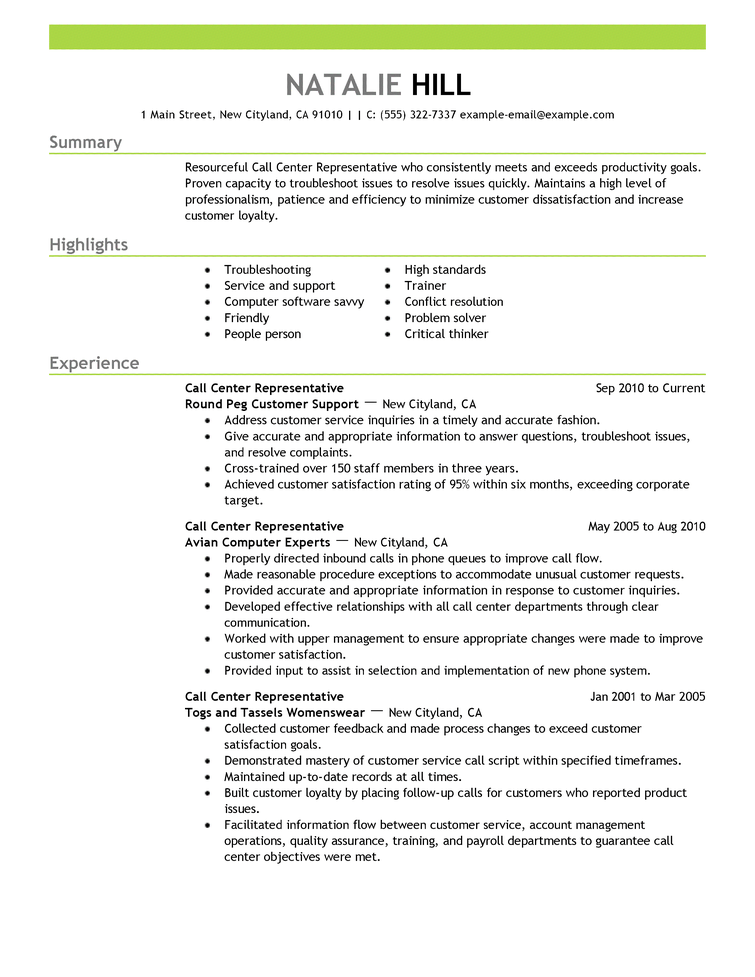 A Good Resume Title For Customer Service. Resume Title Examples Of